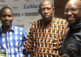 Ibrahim Lamin, Abubakarr Kamara, and Kevin Staton